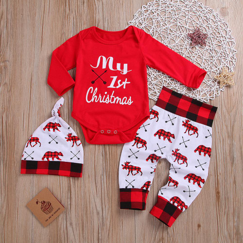 baby boys first christmas outfit