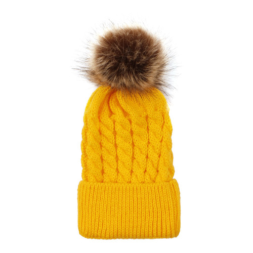 baby toddler university of michigan maize pom hat