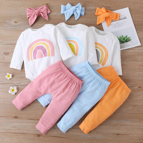 baby girls rainbow themed outfit