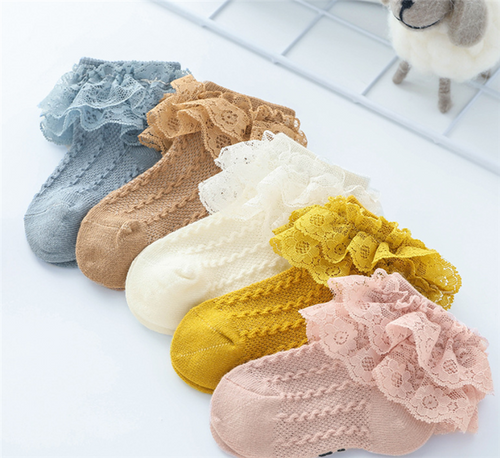 baby girls lace frill socks