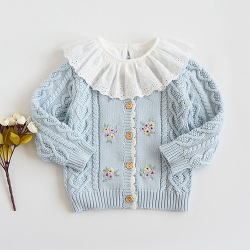 baby girl blue cardigan sweater