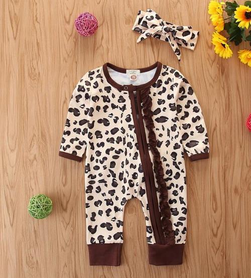 baby ruffle romper pajamas
