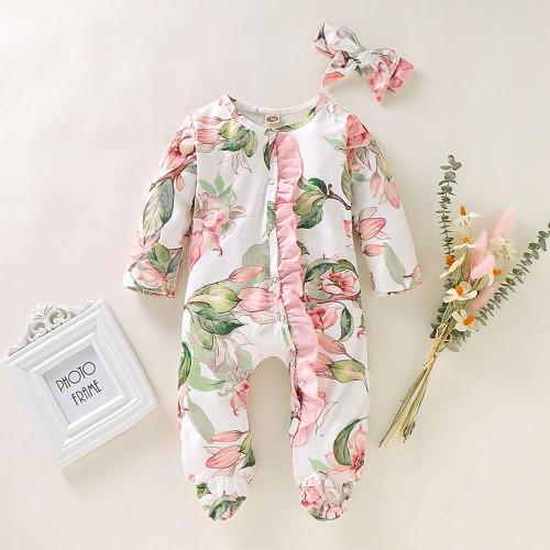 baby girl footie pajamas