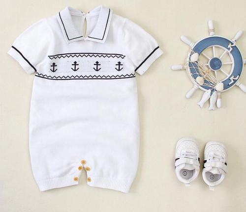 baby boy sailor romper