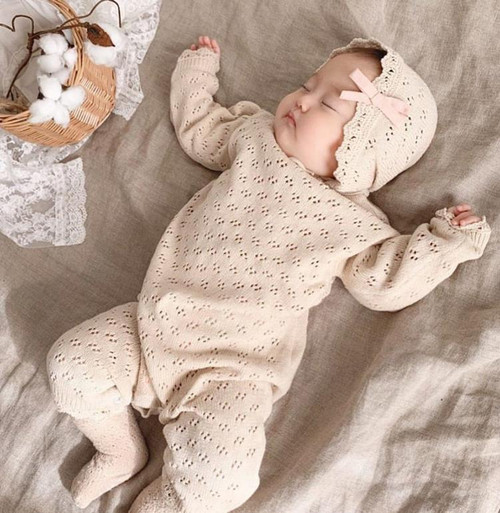 BABY EYELET LACE ROMPER