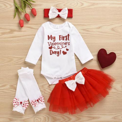 baby girls first valentines day
