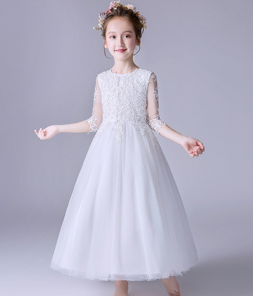 girls first communion gown