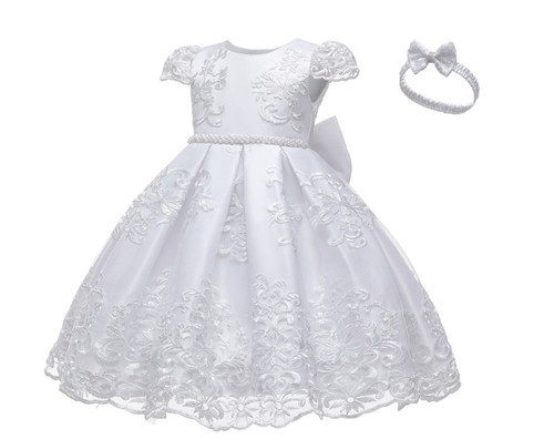 baby baptism dress with headband