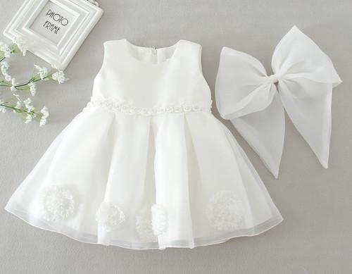 baby sleeveless baptism dress