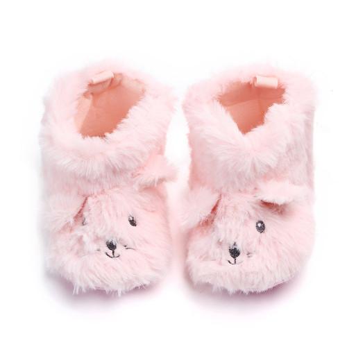 baby girls fuzzy slippers