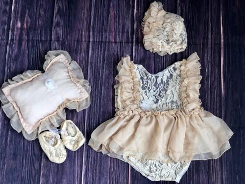 baby girls beige prop