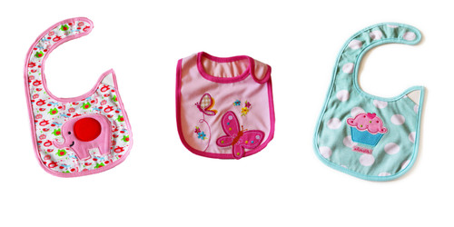 Baby Girl Themed Set of 3 Bibs