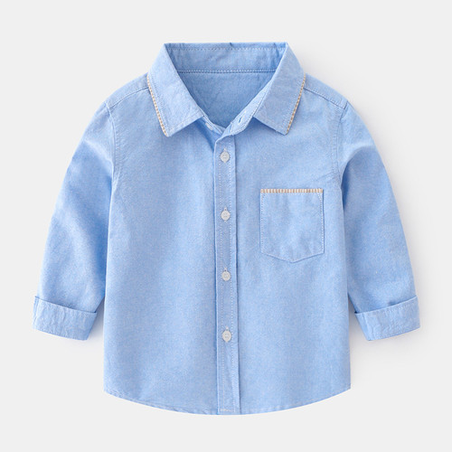 boys chambray blue dress shirt