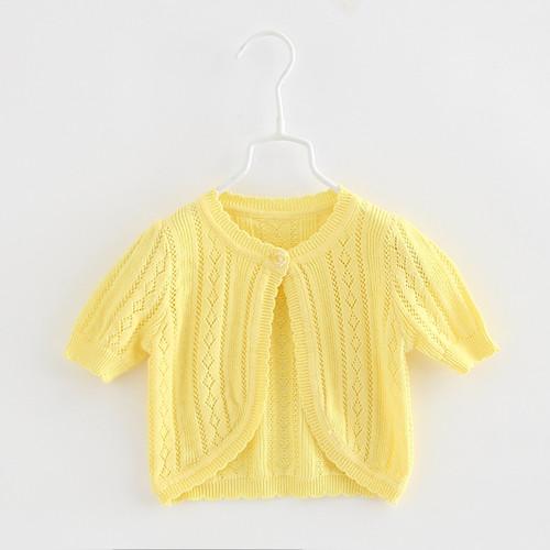girls yellow bolero cardigan