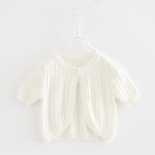 Baby girls white bolero cardigan