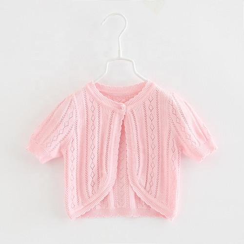 girls pink knit cardigan bolero
