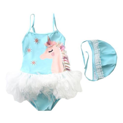 girls unicorn themed swimsuit