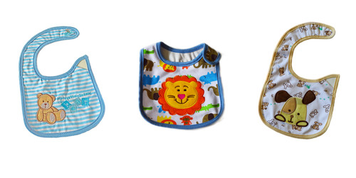 Baby Boy Set of 3 Bibs