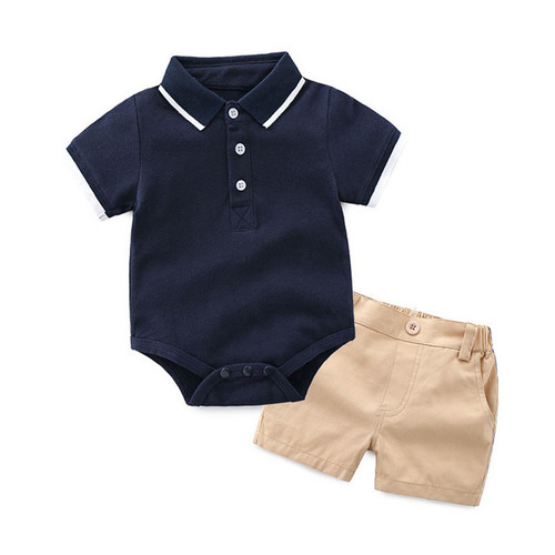 baby boy bodysuit with shorts