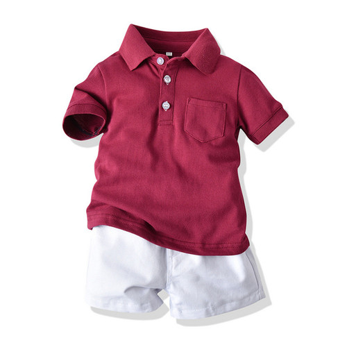 baby boy polo shirt and shorts