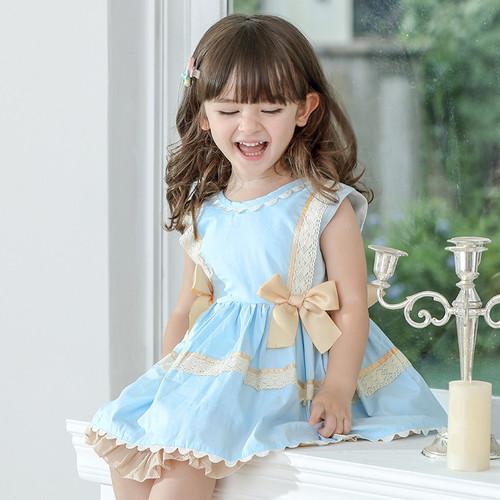 girls spanish style ruffle dress