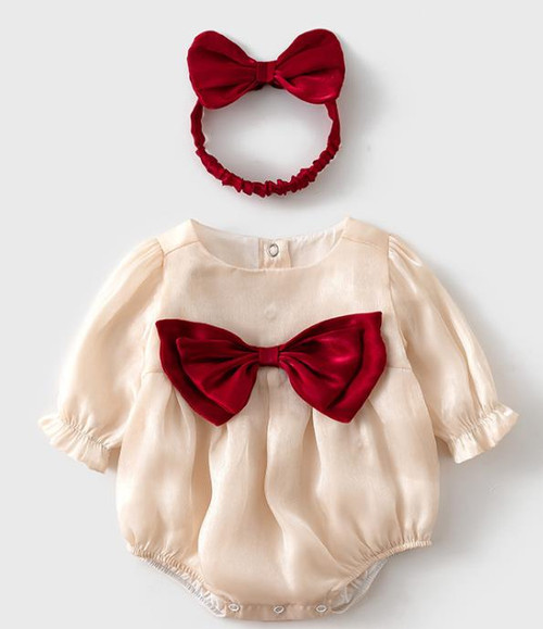 baby girls christmas bodysuit