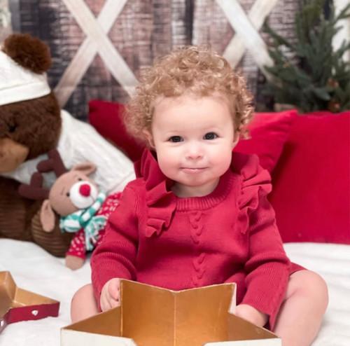 baby girls red sweater dress