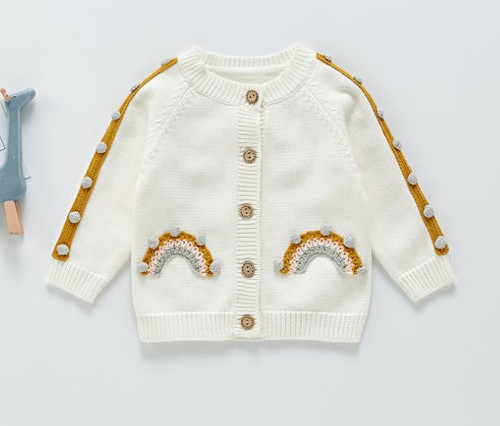 baby rainbow sweater
