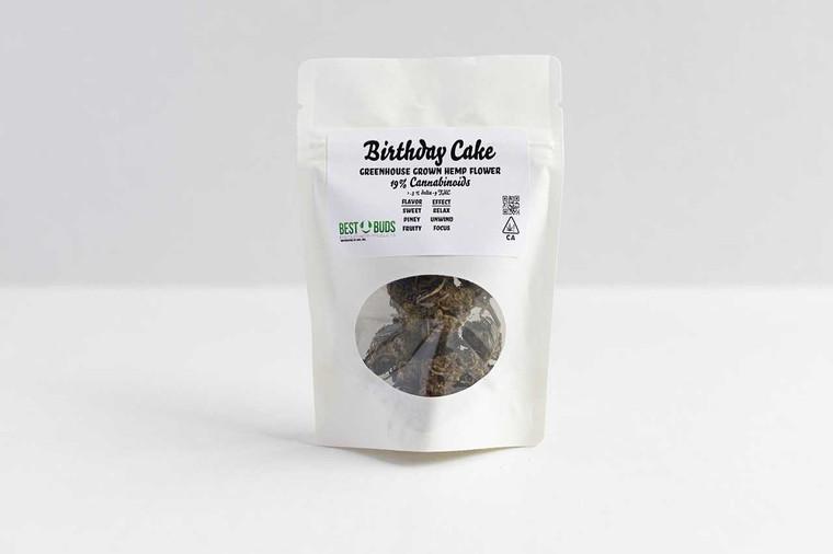 Best Buds Premium Hemp Birthday Cake - Indica Greenhouse Hemp Flower 19percent Cannabinoids