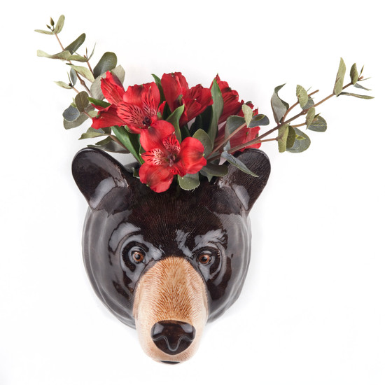 Black Bear Wall vase large