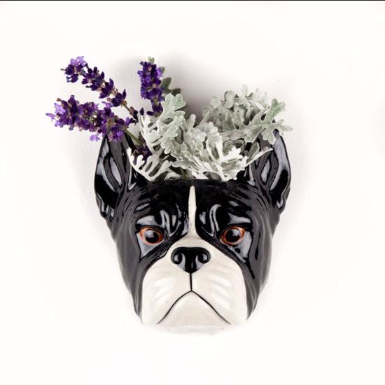 French Bulldog Wall Vase small