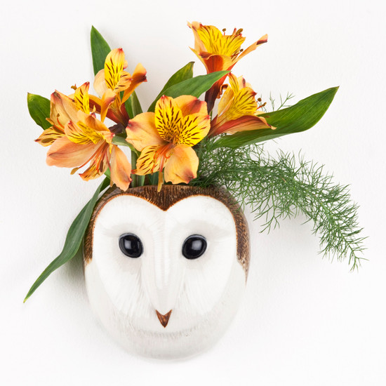 Barn Owl Wall Vase small