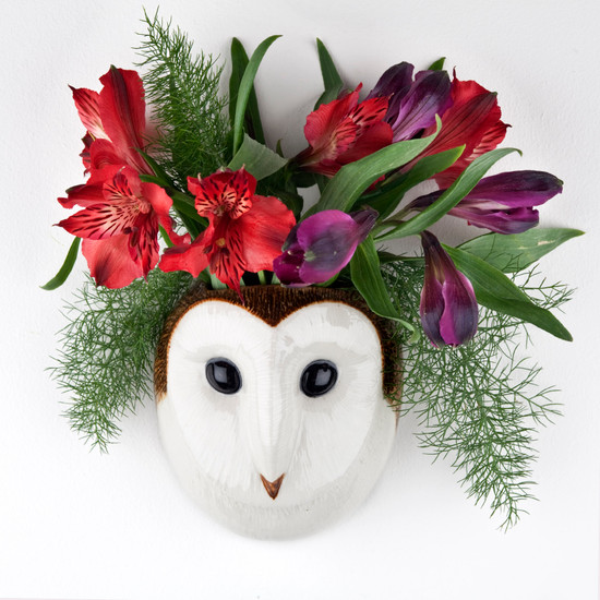 Barn Owl Wall Vase small