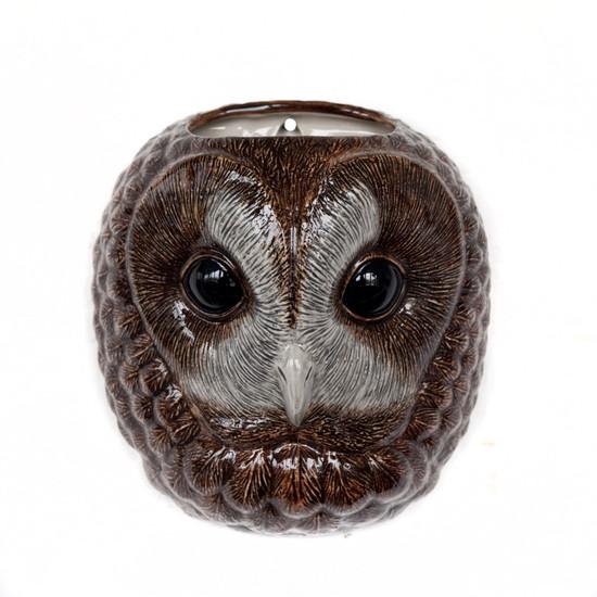 Tawny Owl wall  vase large