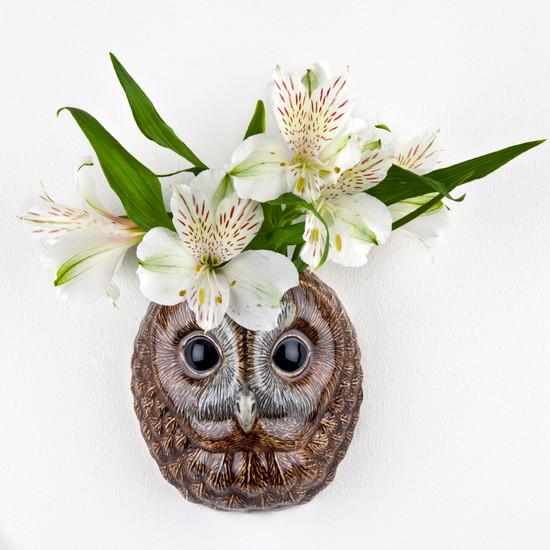 Tawny Owl wall vase small