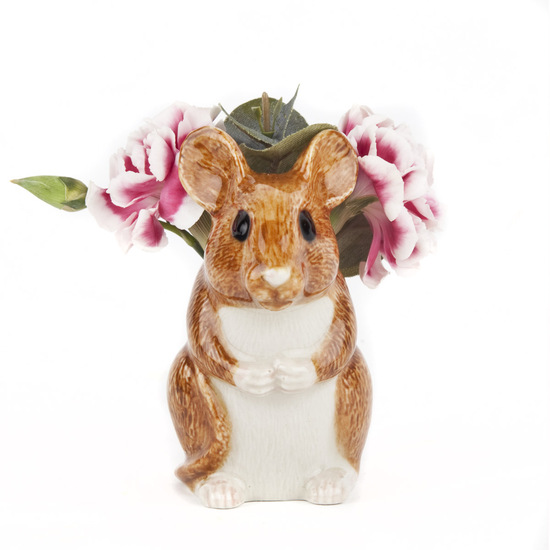 Wood Mouse Bud Vase