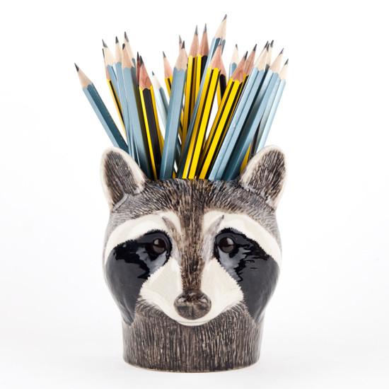 Raccoon Pen Pot