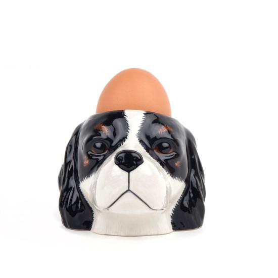 Cavalier King Charles Spaniel Face Egg Cup Tri
