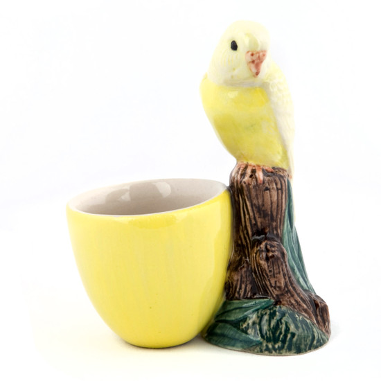 Budgerigar Egg Cup Yellow