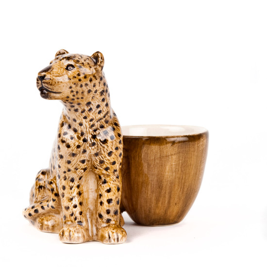 Leopard with Egg Cup