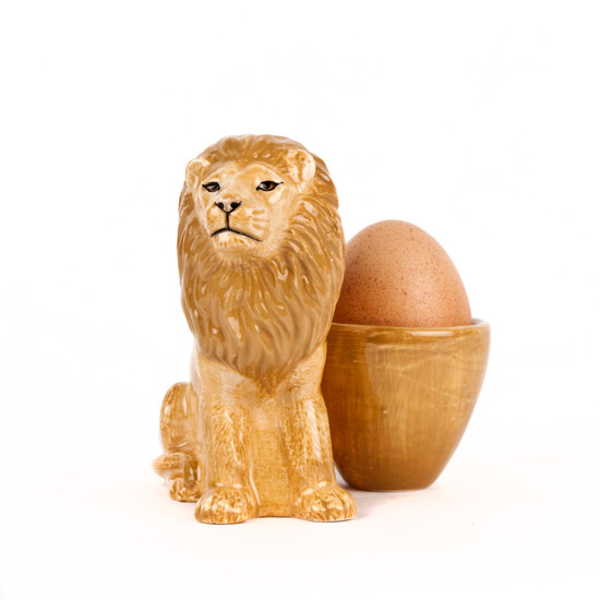 Lion with Egg Cup