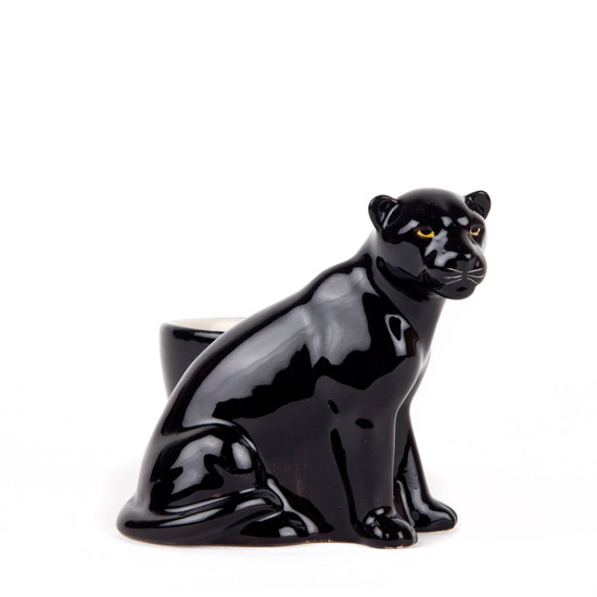 Panther with Egg Cup