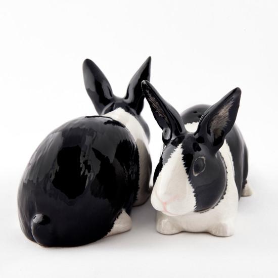 Dutch Rabbit Salt and Pepper black and white