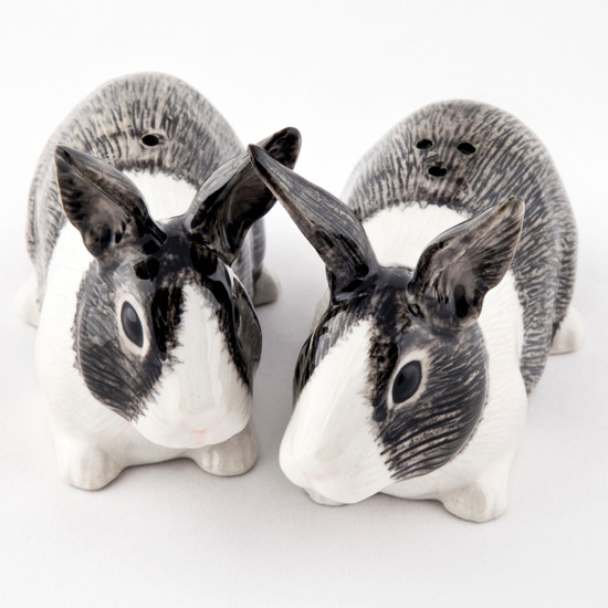 Dutch Rabbit Salt and Pepper grey and white