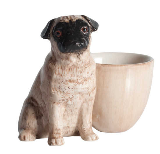 Pug Egg Cup Fawn