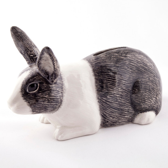 Dutch Rabbit Money Box grey/white