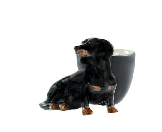 Dachshund Egg Cup Black and Tan