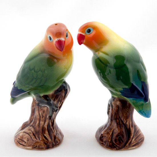Love Birds Salt and Pepper Orange