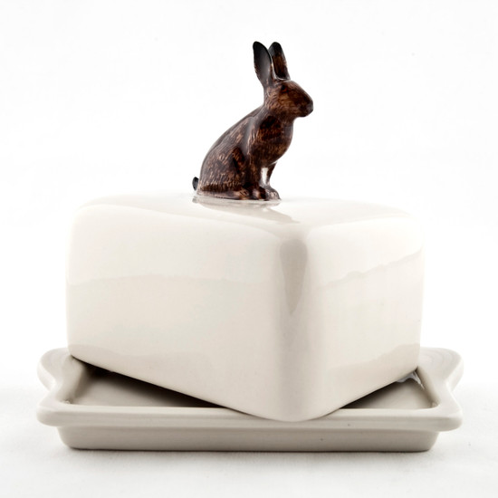 Hare Butter Dish