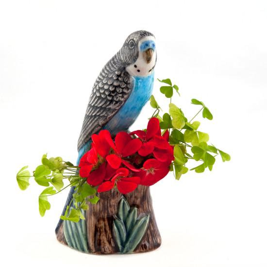Budgerigar Bud Vase Blue